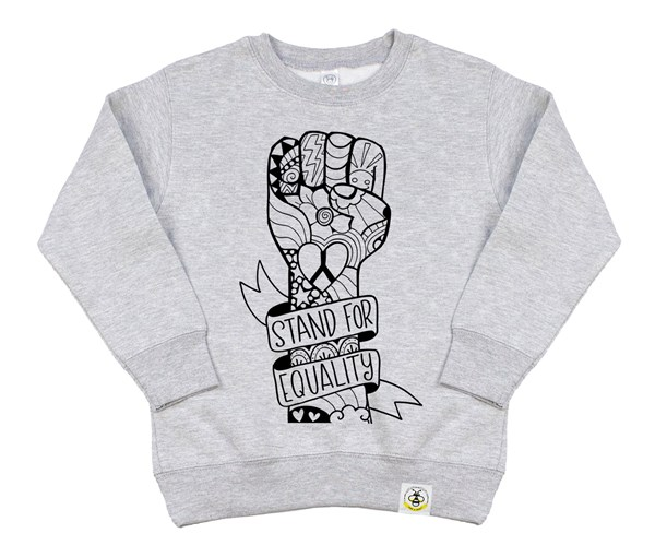 Equality Fist Kids Sweatshirt (Grey)