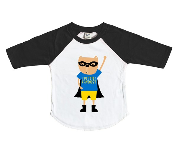 Petite Hero Raglan (White/Black)