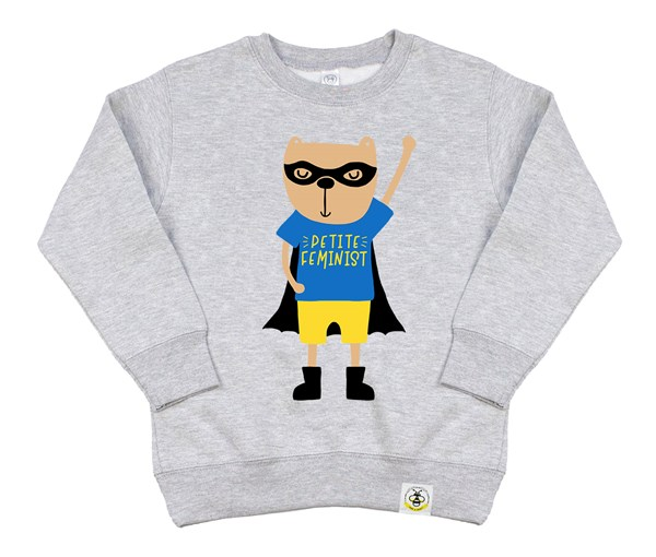 Petite Hero Kids Sweatshirt (Grey)