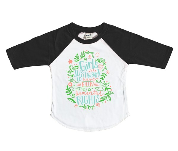 Fundamental Rights Raglan (White/Black)