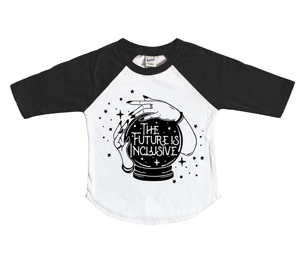 Inclusive Raglan (White/Black)