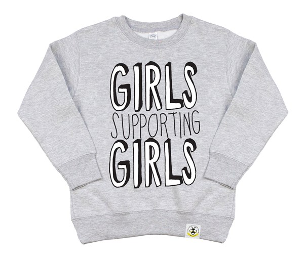 Girls Supporting Girls Kids Sweatshirt (Grey)