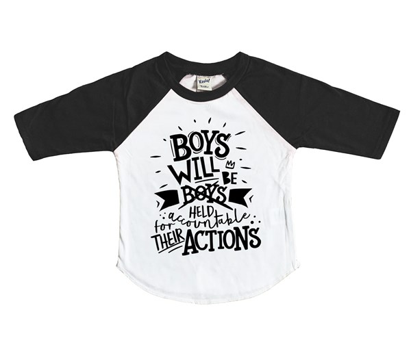 Held Accountable Kids Raglan (White/Black)