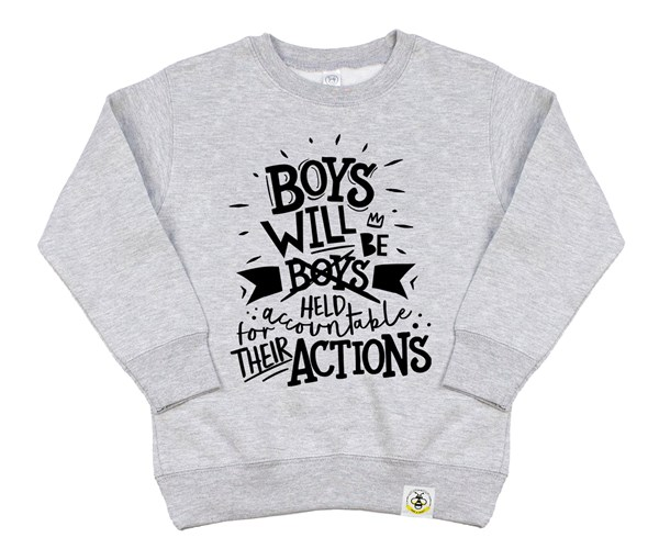 Held Accountable Kids Sweatshirt (Grey)