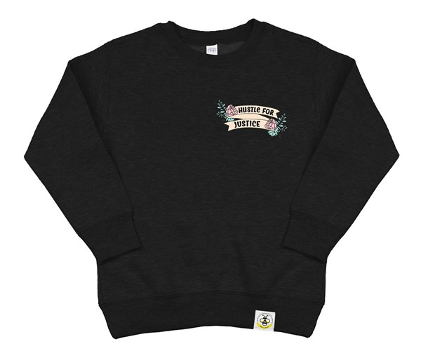 Hustle for Justice Kids Sweatshirt (Black)