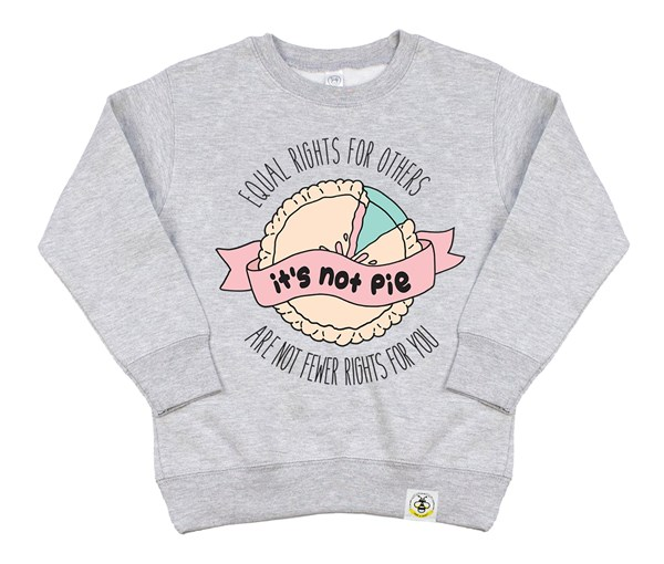 It's Not Pie Kids Sweatshirt (Grey)