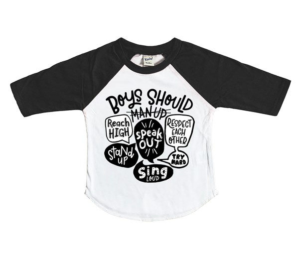 Man Up (Kids Raglan)