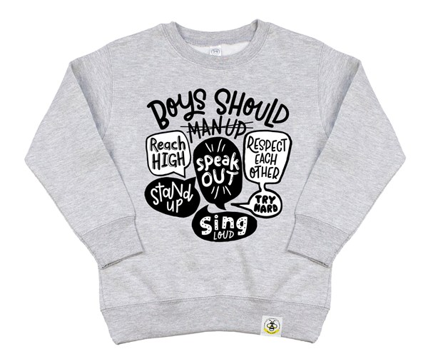 Man Up Kids Sweatshirt (Grey)