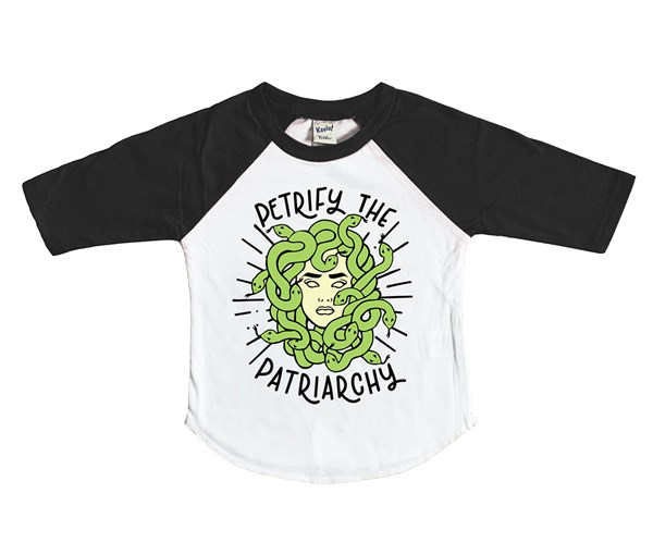 Petrify the Patriarchy (Kids Raglan)