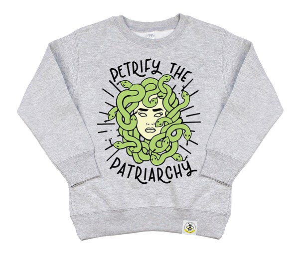 Petrify the Patriarchy Kids Sweatshirt (Grey)
