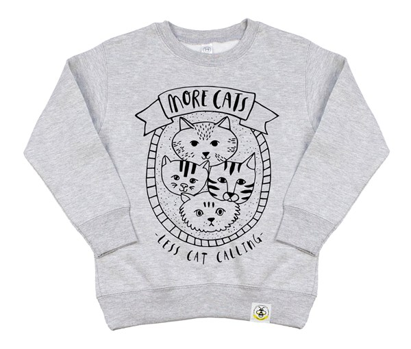 More Cats Kids Sweatshirt (Grey)