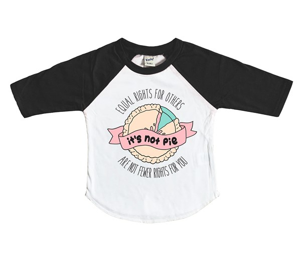 It's Not Pie Raglan (White/Black)