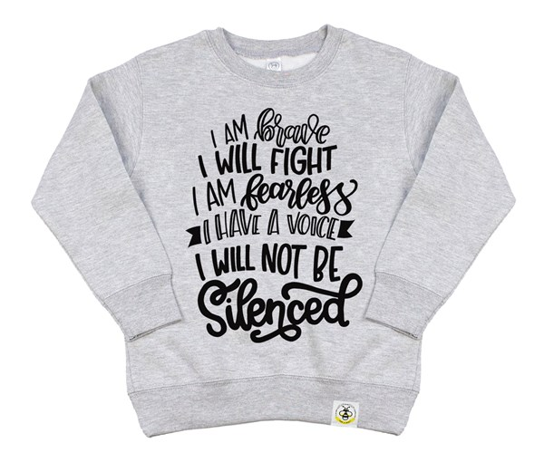 Not Silenced Kids Sweatshirt (Grey)