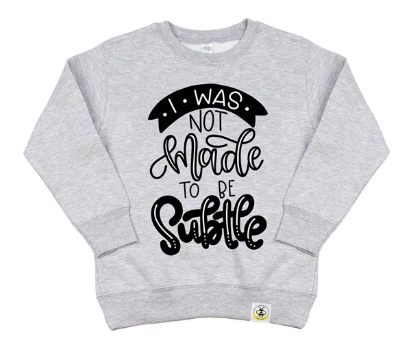 Not Subtle Kids Sweatshirt (Grey)