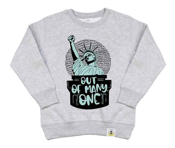Out of Many, One Kids Sweatshirt (Grey)