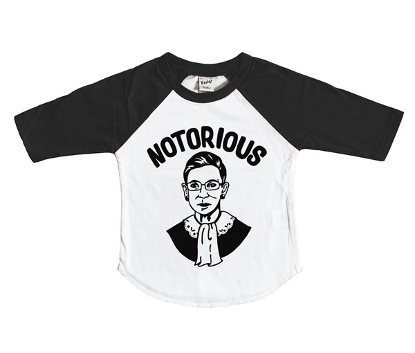 Notorious RBG Raglan (White/Black)