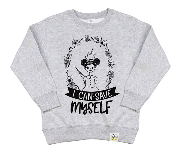 Save Myself Puffs Kids Sweatshirt (Grey)