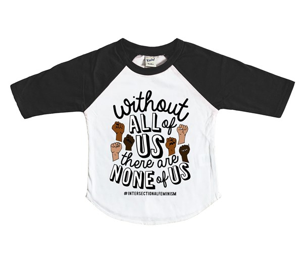 All or None Raglan (White/Black)