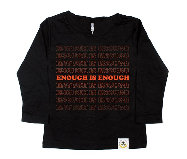 Enough Kids Hooded Tee