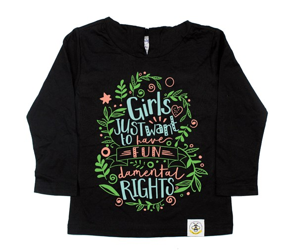 Fundamental Rights Hooded Tee (Black)