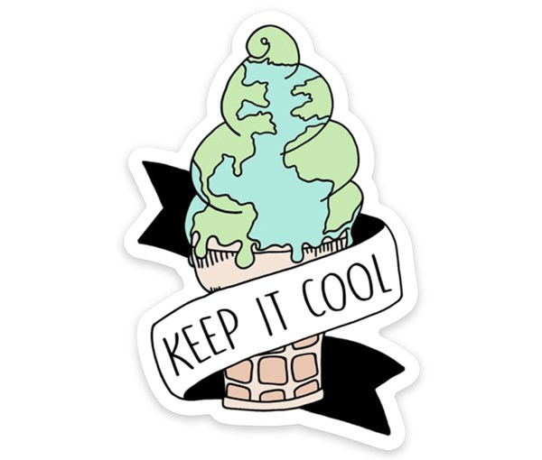 Keep it Cool Vinyl Sticker