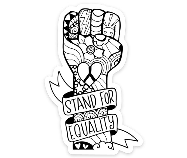 Equality Fist Vinyl Sticker