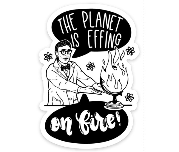 On Fire Vinyl Sticker