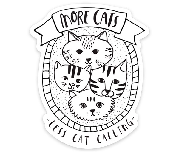 More Cats Vinyl Sticker