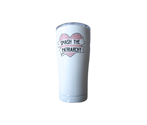 Smash the Patriarchy Tumbler (White)