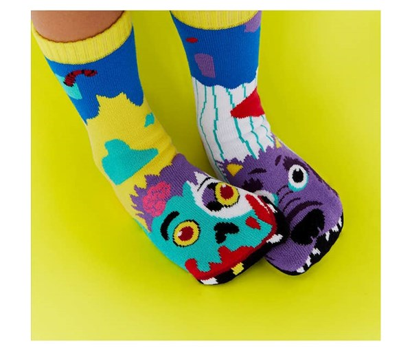Pals Socks: Zombie and Werewolf Pals Mismatched Socks