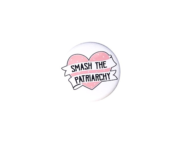 Smash the Patriarchy Pin-back Button