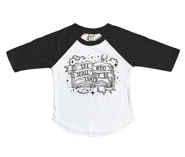 Not Tamed Raglan (White/Black)
