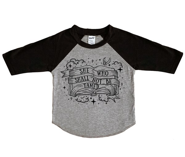 Not Tamed Raglan (Grey/Black)