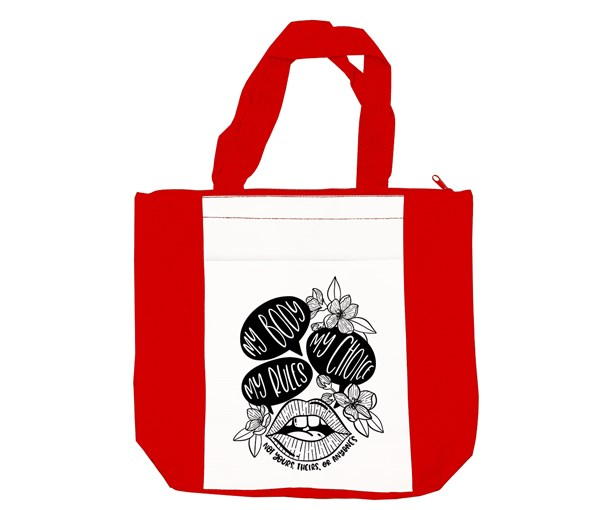 My Body, My Choice Tote Bag (Red/White)
