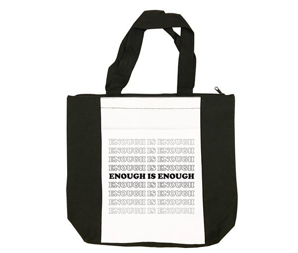 Enough Tote Bag (Black/White)