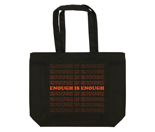 Enough Tote Bag (Black)