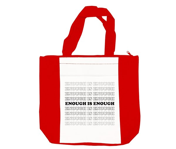 Enough Tote Bag (Red/White)