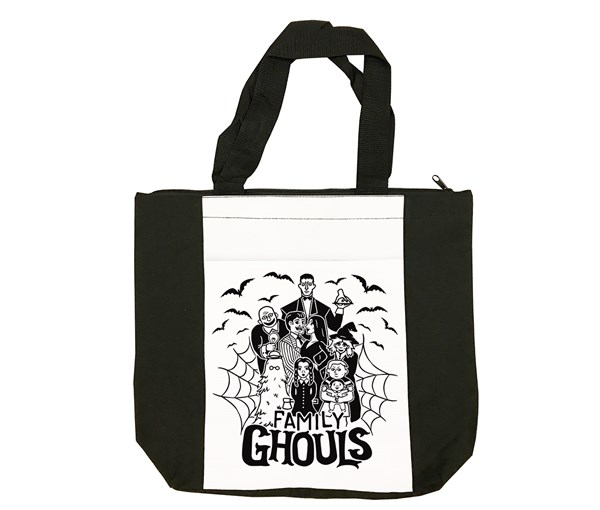 Family Ghouls Tote Bag (Black/White)