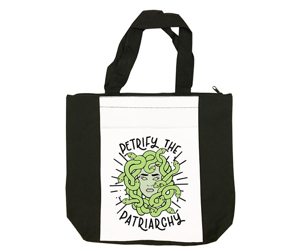 Petrify the Patriarchy Tote Bag (Black/White)