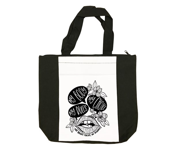 My Body, My Choice Tote Bag (Black/White)