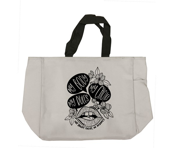 My Body, My Choice Tote Bag (Grey)