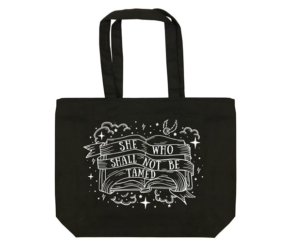 Not Tamed Tote Bag (Black)