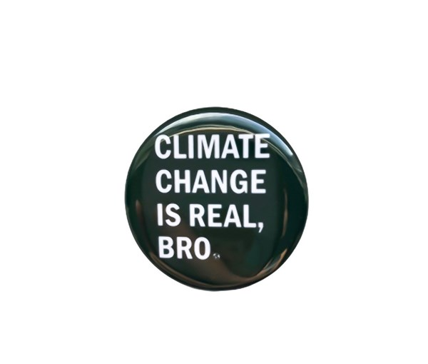 Climate Change Pin-back Button