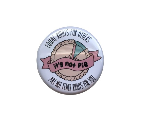 It's Not Pie Pin-back Button