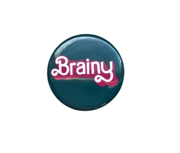 Brainy Pin-back Button