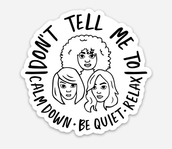 Calm Down Vinyl Sticker