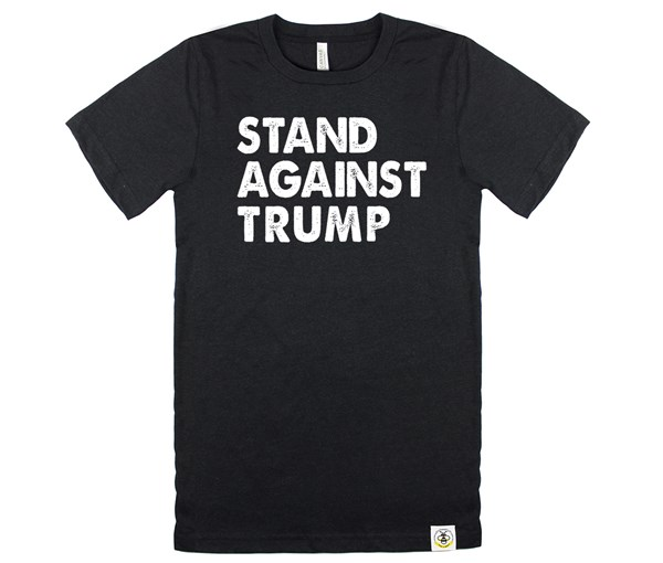 Stand Against Trump Adult Crew (Heather Black)