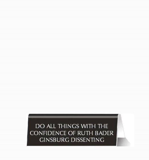 Do All Things Plastic Desk Sign