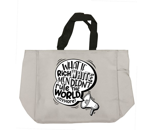 Rich White Men Tote Bag (Grey)