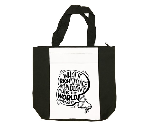 Rich White Men Tote Bag (Black/White)